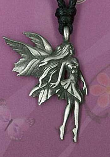 Fairy pewter pendant on cord card and packaged ppk1041 fairy pewter pendant ppk1041 aloadofball Image collections