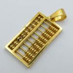 Abacus Pendant Stainless Steel & Gold STP19G