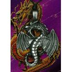 Dragon Pewter Pendant PPK1023