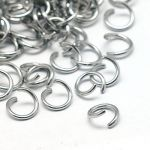 Jump Rings Stainless Steel 6 mm x 0.8 mm