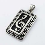 Music Clef Pendant Stainless Steel STP14