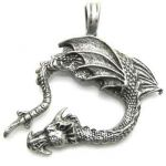 Dragon Pewter Pendant P-02