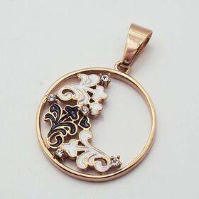 Flower Pendant Stainless Steel & Rose Gold STP20