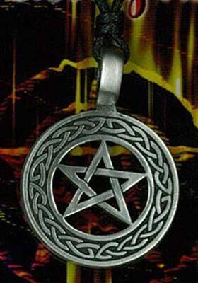 Pentagram Pewter Pendant PPK1022