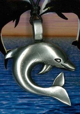 Dolphin Pewter Pendant PPK1001