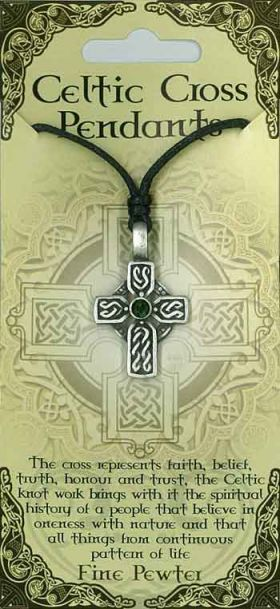 Pewter Pendant Celtic Cross PPK1019