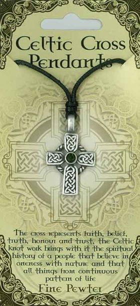 Pewter Pendant Celtic Cross PPK1021