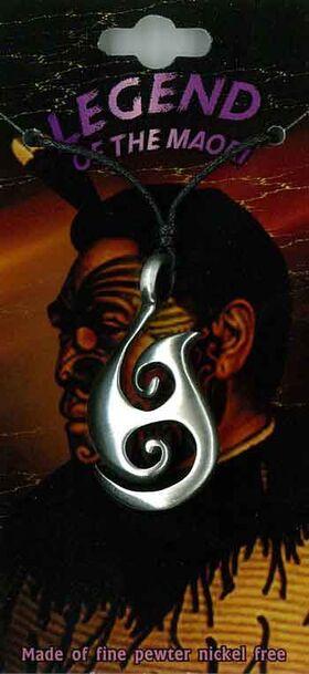 Pewter Pendant Maori Tribal PPK1016