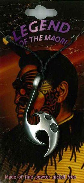 Pewter Pendant Maori Tribal PPK1015