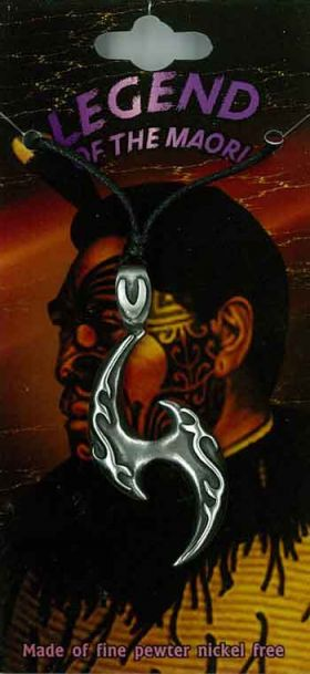 Pewter Pendant Maori Tribal PPK1003