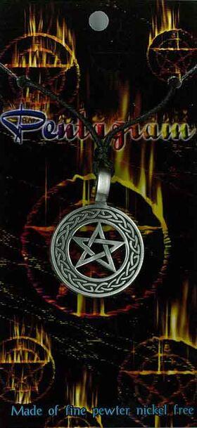 Pewter Pendant Pentagram PPK1022